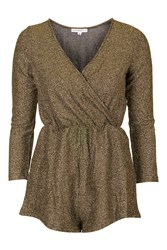 Wrap Front Playsuit By Glamorous Petites Gold