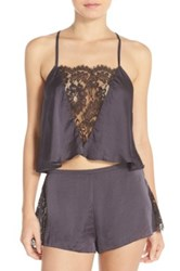 Free People 'Jones Sensual' Lace Inset Camisole Gray
