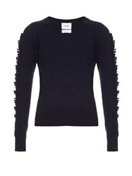 Barrie Troisieme Dimension Cashmere Sweater Navy