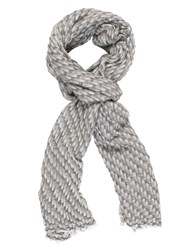 Chesca Bark Weave Cashmere Scarf Grey
