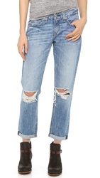 Rag And Bone Boyfriend Jeans Moss With Holes