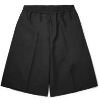 Acne Studios Ryder Wool And Mohair Blend Bermuda Shorts Black