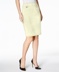 Calvin Klein Pencil Skirt Khaki