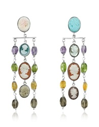 Mia And Beverly Cameo Cascade Earrings Multicolor