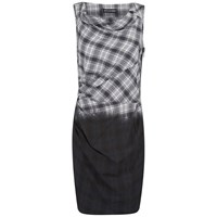 Religion Women's Ombre Tank Dress Black White