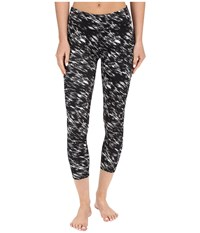 Beyond Yoga Lux Print Capri Leggings Etched Block Women's Casual Pants Black