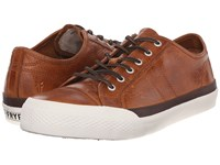 Frye Greene Low Lace Cognac Antique Pull Up Men's Lace Up Casual Shoes Brown