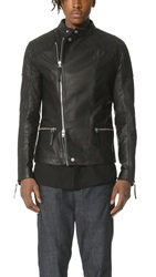 Helmut Lang Glossy Leather Rider Jacket Black
