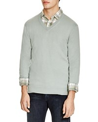 The Men's Store At Bloomingdale's V Neck Cotton Cashmere Sweater Slate Grey
