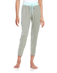 Karen Neuburger Striped Jersey Pajama Pants Grey