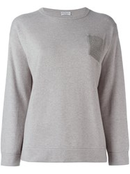 Brunello Cucinelli Chest Pocket Jumper Grey