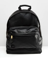 Mi Pac Tumbled Faux Leather Backpack Black