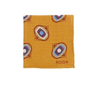 Roda Medallion Pocket Square Yellow