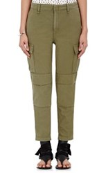 Rag And Bone Women's Relaxed Fit Cargo Crop Pants Green