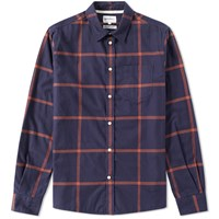 Norse Projects Hans Brushed Check Shirt Blue