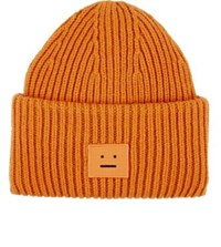 Acne Studios Men's Neutral Emoji Wool Beanie Orange