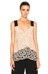 Marni Silk Tank Top In Pink Floral Pink Floral