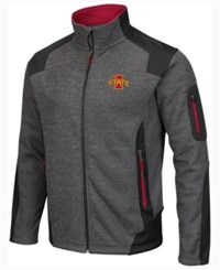 Colosseum Men's Iowa State Cyclones Double Coverage Ii Jacket Charcoal Black