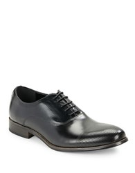 Kenneth Cole Reaction True Jeans Leather Oxfords Black