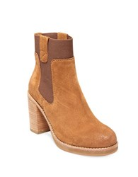 Design Lab Lord And Taylor Jane Suede Booties Tan