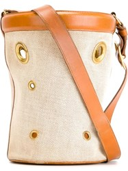 Herma S Vintage Horse 'Mangeoire' Bucket Bag Nude And Neutrals