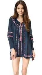 Pia Pauro Long Sleeve Embroidered Tunic Nuit