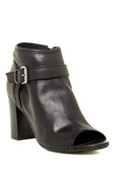 Manas Design Open Toe Leather Bootie Black