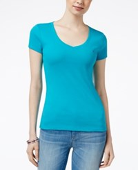 Tommy Hilfiger V Neck T Shirt Only At Macy's Persian Red