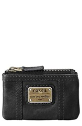 Women's Fossil 'Emory' Zip Coin Pouch Black
