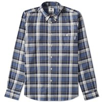 Paul Smith Tailored Fit Plaid Shirt Blue