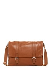 Cole Haan Leather Messenger Brown