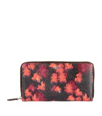 Givenchy Floral Print Zip Around Wallet Female Red Floral