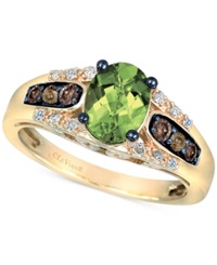 Le Vian Chocolatier Peridot 1 1 5 Ct. T.W. And Diamond 1 4 Ct. T.W. Ring In 14K Gold