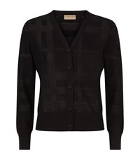 Burberry Check Effect Cardigan Female Black
