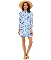 Lilly Pulitzer Ophelia Dress Bomber Blue Get Trunky Engineered Women's Dress