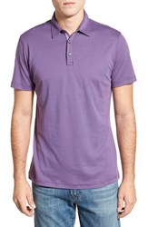 Men's Robert Barakett 'Dalton' Pima Cotton Polo Purple Rose