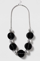 Topshop Statement Resin Ball Necklace Black