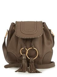 See By Chloe Polly Leather Bucket Bag Grey