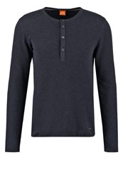 Boss Orange Topsider Long Sleeved Top Dark Blue