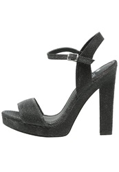 Evenandodd Platform Sandals Black Grey