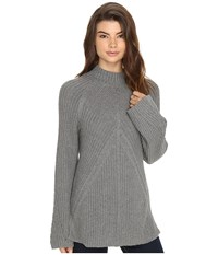 Brigitte Bailey Bell Sleeve Turtleneck Heather Grey Women's Clothing Gray