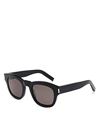 Yves Saint Laurent Thick Square Sunglasses Black Smoke