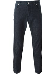Versus Safety Pin Slim Fit Jeans Blue