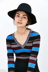Urban Outfitters High Crown Felt Panama Hat Black