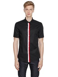 Dirk Bikkembergs Stretch Cotton Poplin Short Sleeve Shirt