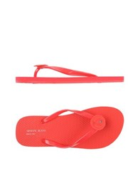 Armani Jeans Footwear Thong Sandals Women Red