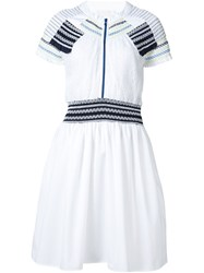 Peter Pilotto 'Ammos' Smocked Dress White