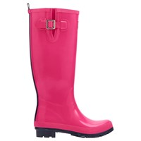 Joules Gloss Tall Wellington Boots Pink