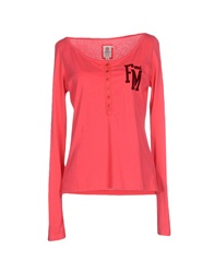 Franklin And Marshall T Shirts Coral