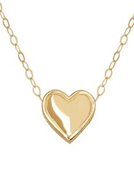 Lord And Taylor 14 Kt. Yellow Gold Heart Charm Necklace
